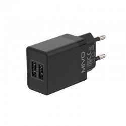 Сетевое зарядное устройство MIVO 2.1A 2xUSB  MP-221