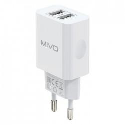 Сетевое зарядное устройство MIVO 2.4A 2xUSB MP-224