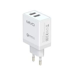 Сетевое зарядное устройство Mivo 2 USB 18W MP-321Q