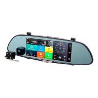 Видеорегистратор-зеркало Eplutus D30 с 2-мя камерами на базе Android с GPS и Wi-Fi
