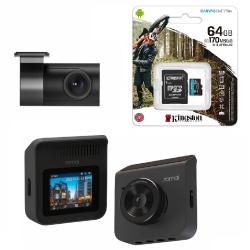 Видеорегистратор Xiaomi 70Mai A400-1 с камерой RC06 + MicroSD 64Gb Kingstone U3 (для записи 4K)