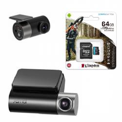 Видеорегистратор Xiaomi 70Mai A500S-1 с камерой RC06 + MicroSD 64Gb Kingstone U3 (для записи 4K)