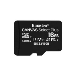 Карта памяти microSDHC 16GB Kingston Canvas Select Class 10 UHS-I U1 + SD adapter (SDCS/16GB)