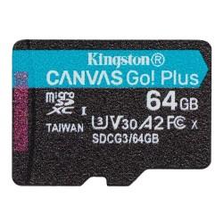 Карта памяти Micro SDXC Kingston 64Gb Canvas Go Plus SDCG3/64GB UHS-I U3 A2 (170/70 MB/s)