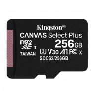 Карта памяти MicroSDXC Kingston 256GB Class 10 Canvas Select UHS-I U3 (100 MBb/s)(SDCS2/256GB)