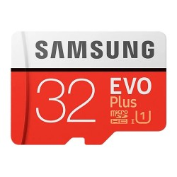 Карта памяти MicroSDXC 32GB Samsung Class 10 Evo Plus + SD adapter (R/W 95/20 MB/s) (MB-MC32GA/RU)