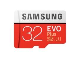 Карта памяти MicroSDXC 32GB Samsung Class 10 Evo Plus + SD adapter (R/W 95/20 MB/s) (MB-MC32GA/RU)