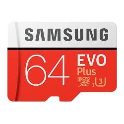 Карта памяти MicroSDXC Samsung 64GB Class 10 Evo Plus U1 U3 (R/W 100/60 MB/s) (MB-MC64GA/RU)