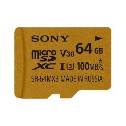 Карта памяти SDXC Micro Sony 64GB UHS-I U3+адаптер (SR64MX3A/NT)